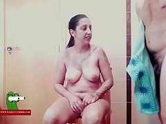 He takes a shower in order to let his cock ready for sex ADR0254