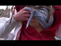 Hot babe Gina Gerson takes a mouthful of cum ou...