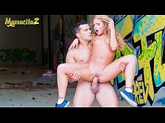 MAMACITAZ - Russian Teen Takes Big Spanish Cock Outdoor - Sofi Goldfinger