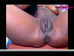 Ebony Cam Amateur BlackSexy Masturbation And Squirt