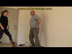 Mistress Rabia savage boots trample and violent ballbusting