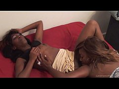 HD Sexy ghetto lesbians eating pussies and toying