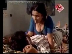 zee telugu soyagam bgrade sexy hot telugu aunty boobs press compilation scene