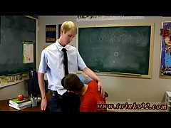 Teen gay twink bareback Ace Sterling stands at the front of the