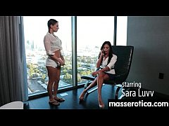 Sensual Oil Massage turns to Hot Lesbian action 1