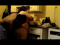 In the kitchen with my wife