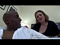 BBW MILF w Big Tits First Interracial Video