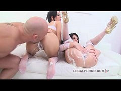 Jessica Swan & Sandra Luberc Creme Stuffed And Double Penetrated