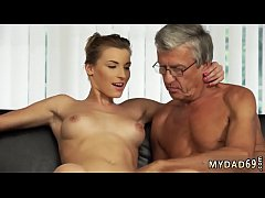 Daddy needs some pussy Sex with her boyboss´s father after swimming
