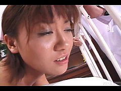 Uncensored Japanese nurse CMNF anal inspection Subtitled
