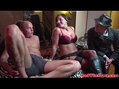 Amsterdam lingerie hooker gets a cum mouthful
