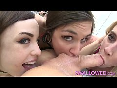 SWALLOWED Chloe, Luna and Cadence threeway deepthroat