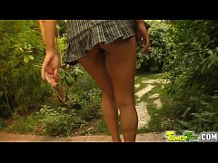 Tamed Teens Skinny 18 year old gets all holes d...