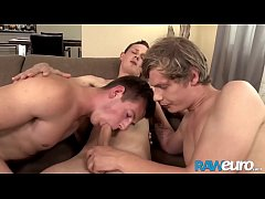 RAWEURO Hardcore Euro Bareback Threesome With Jocks