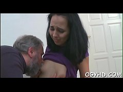 Cute young girl fucked by old guy