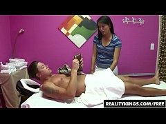 Asian (Angelina Chung) gives some Joyful Jerking after massage - Reality Kings