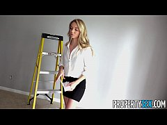 PropertySex - House painter smooth talks his hot blonde boss lady into sex