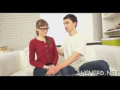 Hot nerd copulates like a doxy