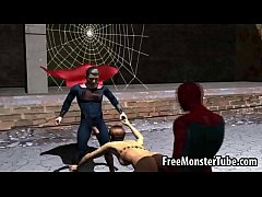 Foxy 3D babe getting fucked hard by Spiderman