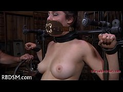 Torturing gal with vibrators