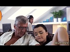 Busty brunette fucks an older guy