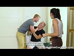 Make Him Cuckold - Busted tube8 and redtube made a xvideos cuckold teen-porn