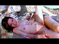 Hot young latina slut fucked at the beach