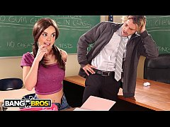 BANGBROS - Teen Dillion Harper Squirts All Over Teacher's Dick In Detention!