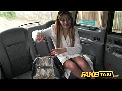 FakeTaxi Sexy lady in fishnet lingerie