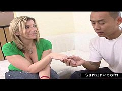 Sara Jay Gets Asian Dick at Nail Salon