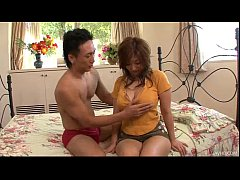 Big titty Naho has her perky nipples nibbled and her pussy fingered until she cu