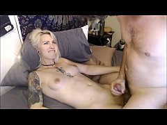 Blond Inked Trans - Skilled Handjob By Her BF