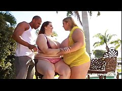 Busty BBWS In Bikinis Fuck Huge Latin Cock in the Pool