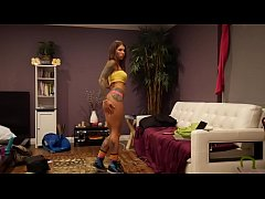 Felicity Feline Strip Tease Dancing and Stretching Flexible Fitness babe