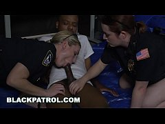 HD BLACK PATROL - Black Suspect Is Dominated and Fucked By Big Ass MILF Cops