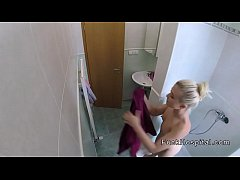 HD Doctor bangs blonde after shower