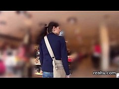 Attractive czech teen gets teased in the shopping centre and poked in pov