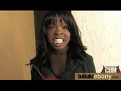 Ebony gets fucked in all holes by a group of white dudes 9