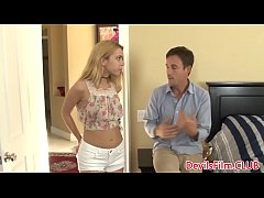 Babysitter Alina West assfucked before facial