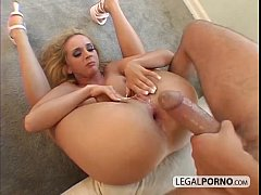 Cute blonde fucked by a big cock in the ass MG-2-01