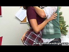 InnocentHigh Holiday Special Hot teen Sadie Holmes fucks nerd