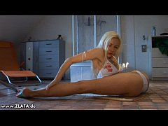 Incredible Contortion By Zlata In A White Bikini