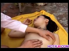 Hot asian girl in hard sex scene