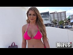 Bikini Blonde Flashes for Cash video starring Skyla Novea - Mofos.com