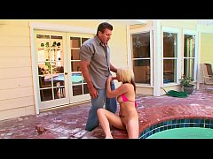 muscular stepfather Lee Stone & his stepdaughter Candi Lynn