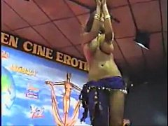 Arab busty on stage dancing