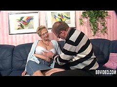 Busty german milf gets nailed