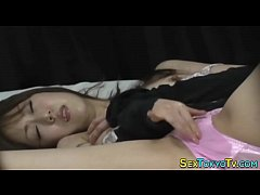 Watched asian teen rub