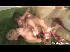 TEENGONZO Teen Zoey Foxx fucked hard outdoor in all poses