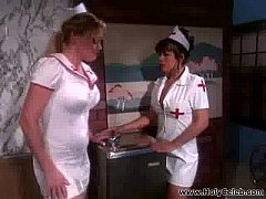 Busty blond nurse fucked with patient